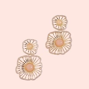 Lilly Pulitzer Jewelry - Lilly Pulitzer Show Stopper Earrings Pink Tropics
